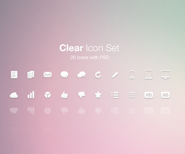 Clean Social Icons - Minimalist Icon Design Set