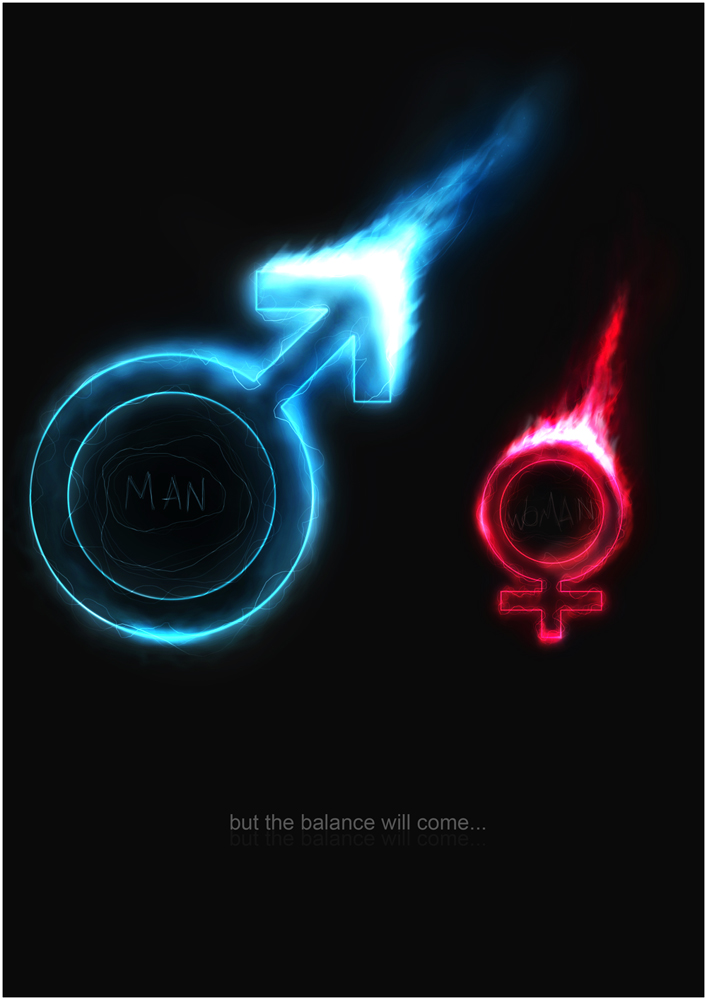 Graphic design inspiration: danjul man-woman