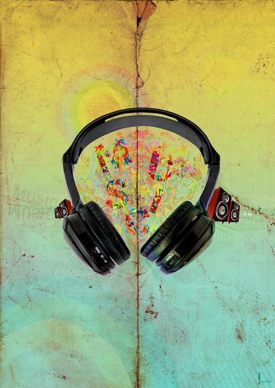 Graphic design inspiration danjul musik