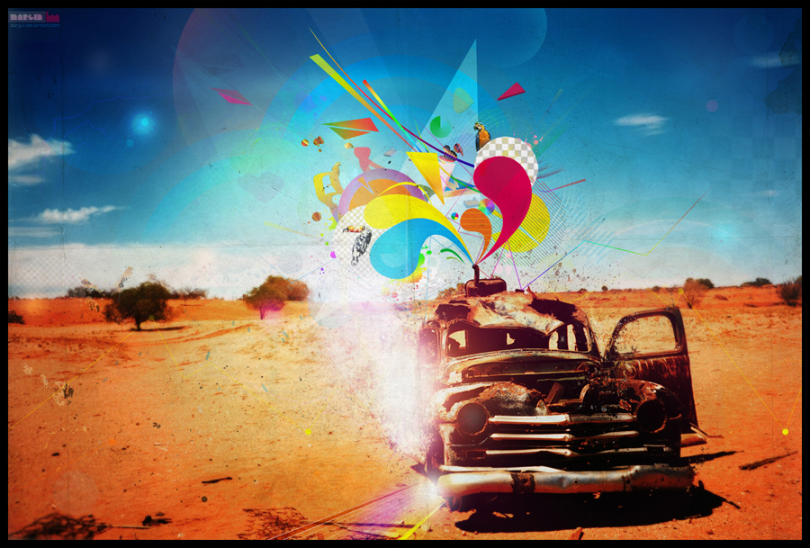 Graphic design inspiration: danjul desolate