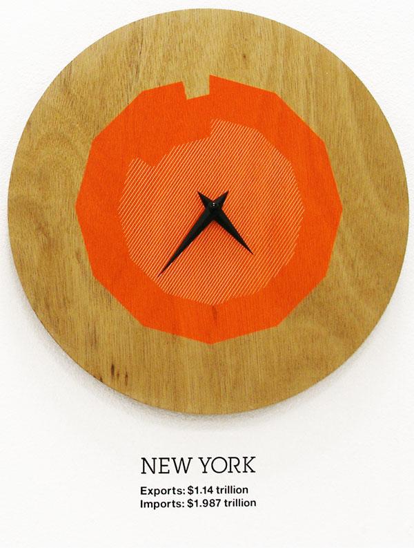 Graphic design inspiration: studio-oh clock new york