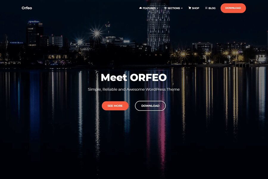 Orfeo WordPress theme