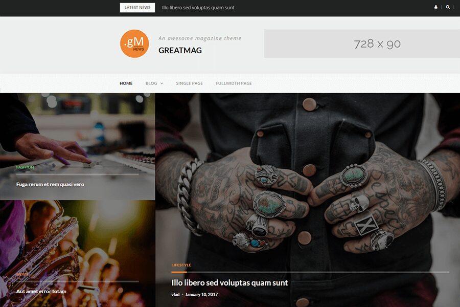 GreatMag WordPress theme