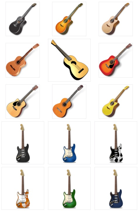 Guitar icons