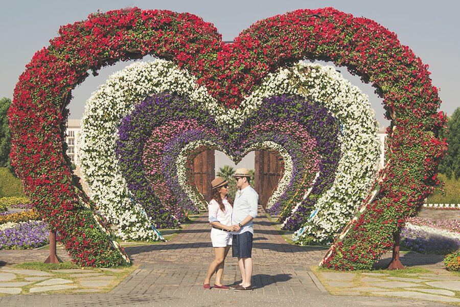 love couple garden