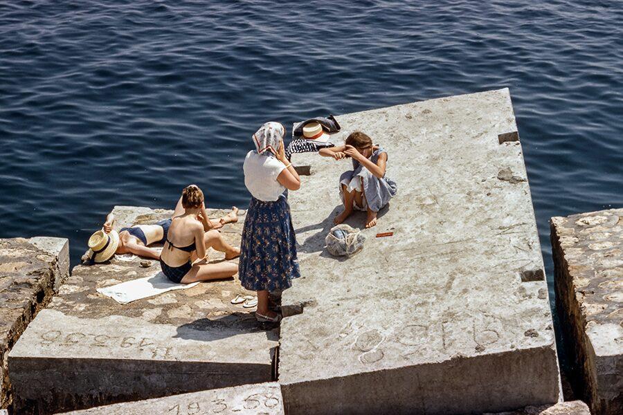 vintage bathing