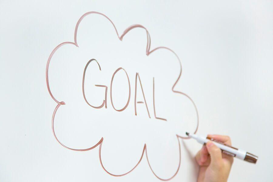 goal on a whiteboard