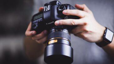 DSLR camera stock photo