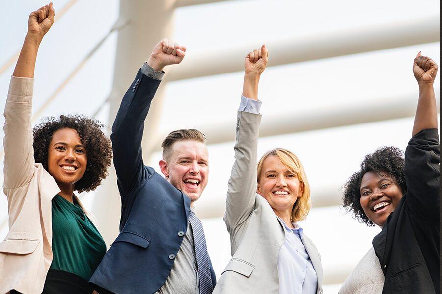 Four people success