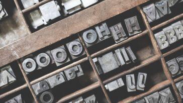 metal typeface for printing press
