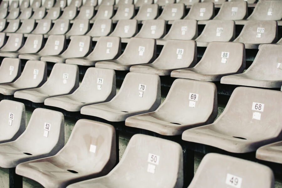 Gray Stadium Seats