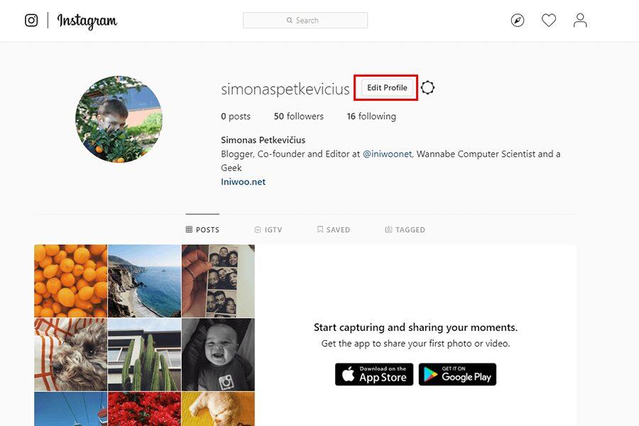 Access Instagram Settings