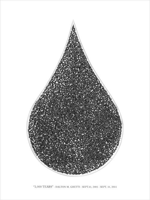 """""""3,000 Tears"""" 9/11 Memorial, by Dalton M Ghetti"""