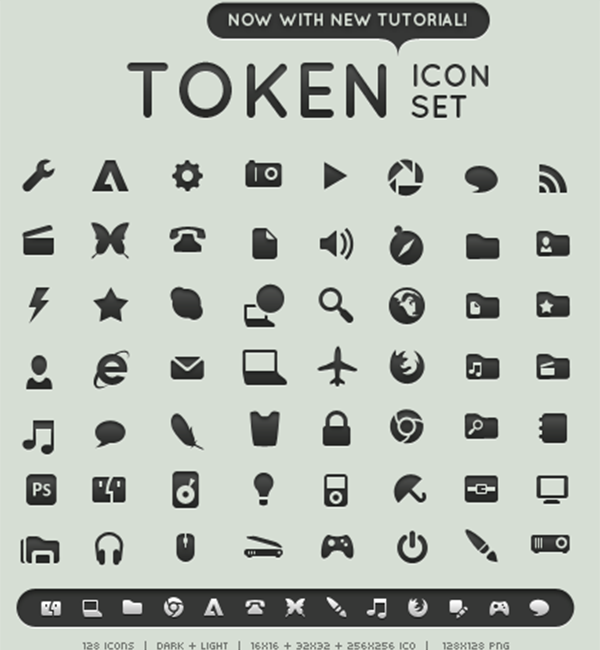 Token - Minimalist Icon Design Set