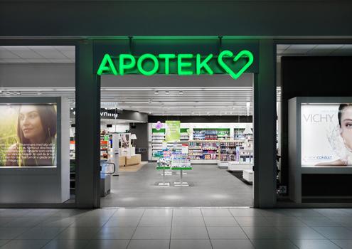 Apotek Hjartat Logo, by BVD (Blidholm Vagnemark Design)