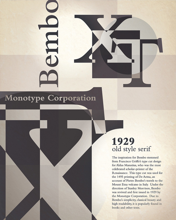 Bembo Typography Poster by BigJaz32