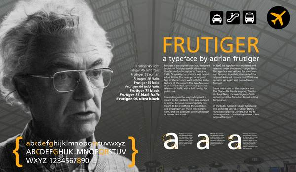 Frutiger Typography Poster by Cale LeRoy