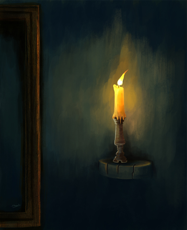 Painting a Candlelight Composition, by 3d2dizayn