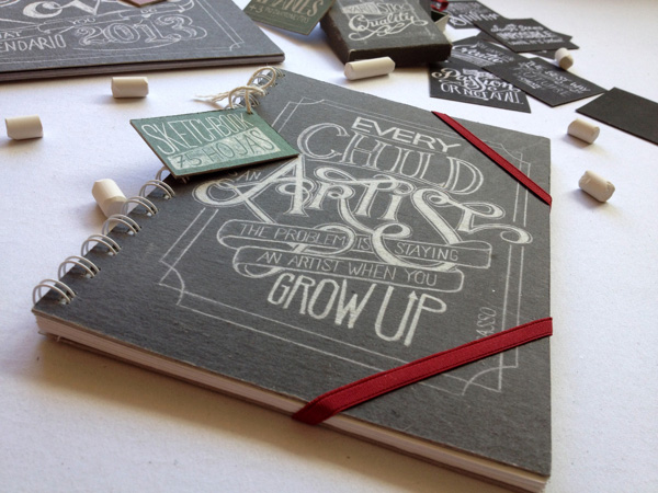 Chalkboard lettering on stationery by Lisa Nemetz