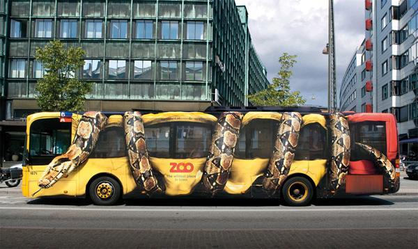 Copenhagen Zoo: Snake Bus Vehicle Wrap, by Bates Y&R
