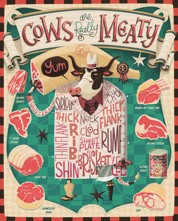 Cows Are Really Meaty by Steve Simpson