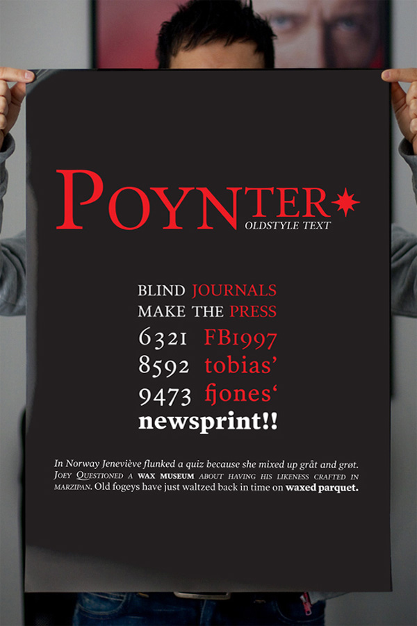 Poynter Old Style Text Typography Poster by Daniel Marques
