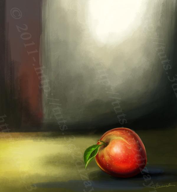Painting An Apple, by Hatice Bayramoglu