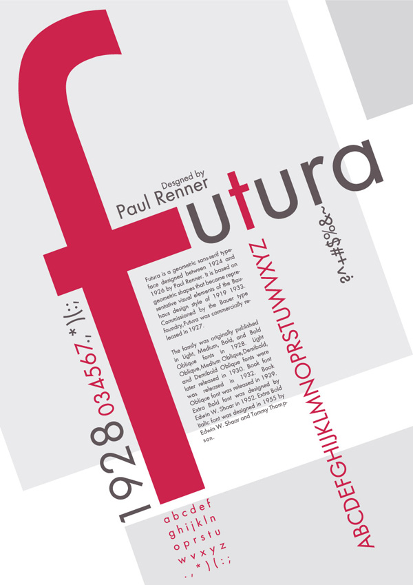 Futura Typography Poster -posted by maijaahonen