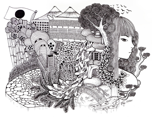 Japanese Doodle, by Vicente Teng II
