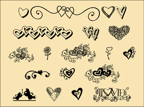 Hand Drawn Free Calligraphic Dingbat Fonts Iniwoonet