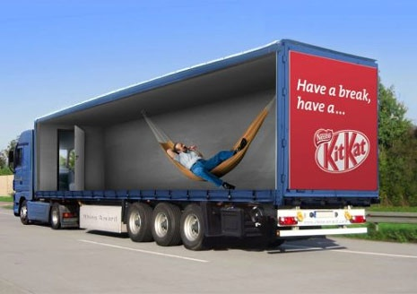 KitKat 3D Truck Wrap