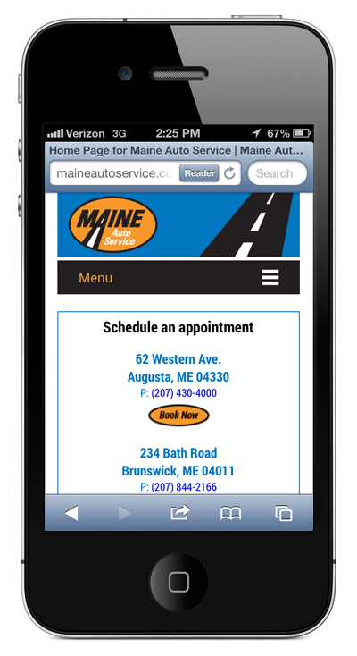 Maine Auto Service Branding: Making a National Chain, Local, by Visible Logic