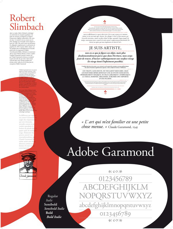 Adobe Garamond Type Poster by Melaine Top