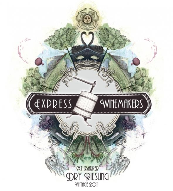 Mixed Media Wine Label, tutorial by Joshua Anthony O'Meara