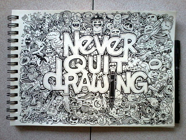 Never Quit Drawing, by Kerby Rosanes