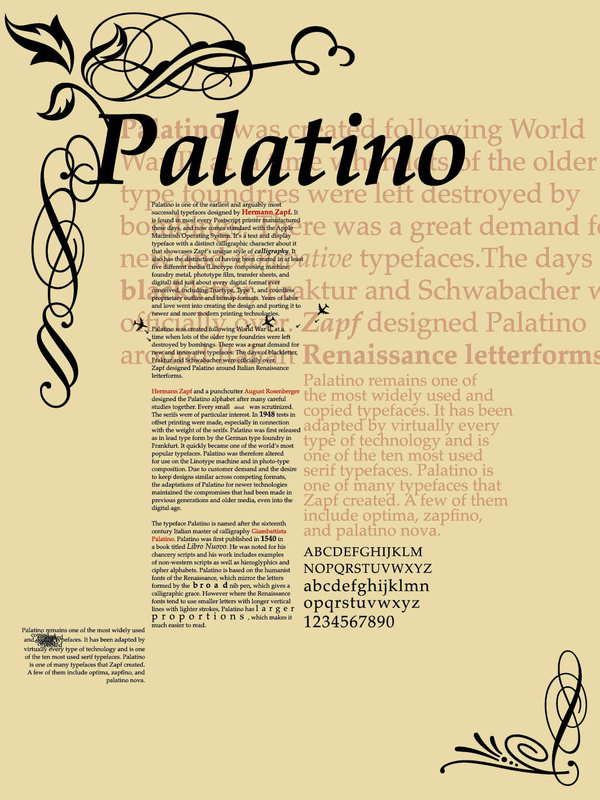 Palatino Typography Poster by theStrange6