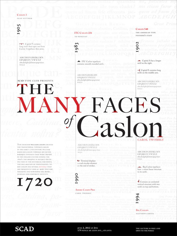 Caslon Type Poster by Shawnacy Ruffin