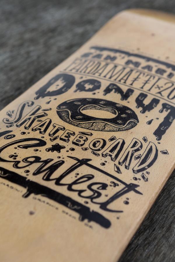 Skateboard deck design by Davide Pagliardini