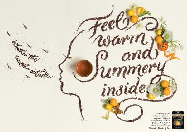 Hand-lettering by Alison Carmichael for Twinings