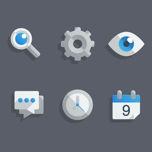 "Create a Set of ""Almost Flat"" Modern Icons in Adobe Illustrator, by Chris Carey"