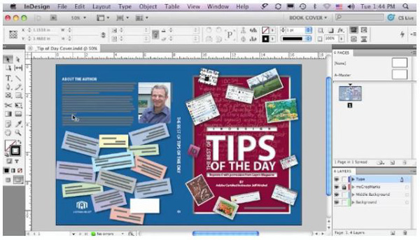 Book Cover Design in InDesign CS5, By Jeff Witchel