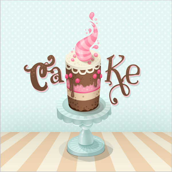 Create a Colorful Cake Illustration in Photoshop, tutorial by Miriam Moshinsky