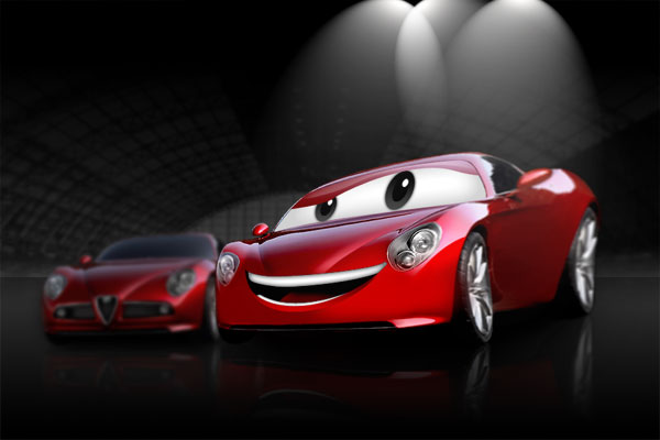 Create a Cartoon Car Similar to Cars Movie, by Aaron