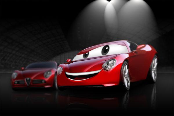Create a Cartoon Car Similar to Cars Movie, by Aaron