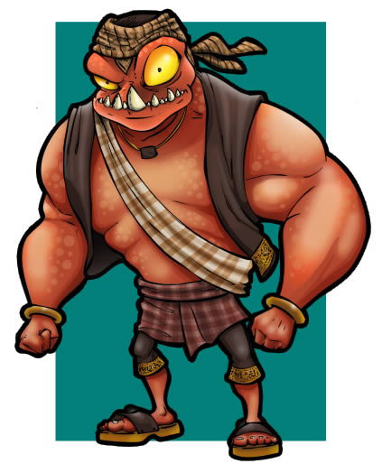 Draw a Cartoon Monster Character in Photoshop by Mohammad Jeprie
