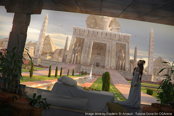 "Matte Painting Tutorial - ""Cleopatra Queen of Egypt"" by Frederic St-Arnaud"