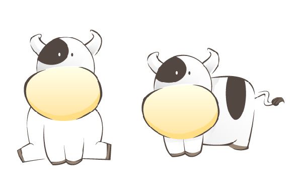 A Cow As Chinese New Year Zodiac Character, by kailoon