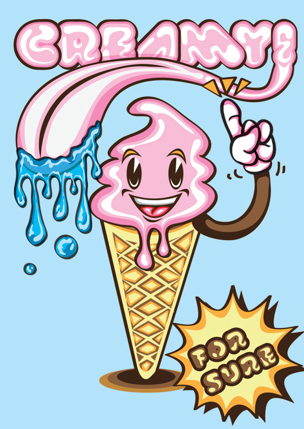 Create a Creamy Ice Cream Poster on Illustrator, tutorial by Marcos Torres