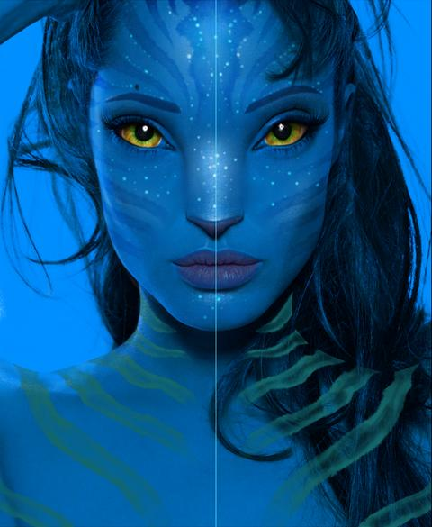 Creating Avatar Navi Character in Photoshop