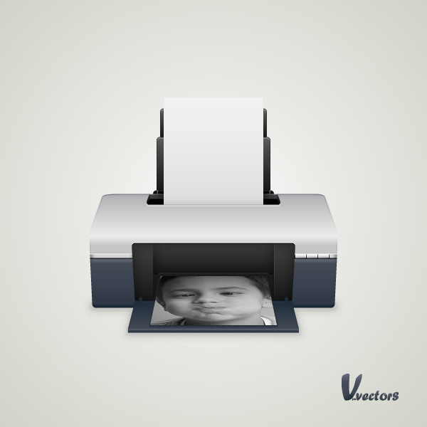 Create a Printer Illustration, by Andrei Marius